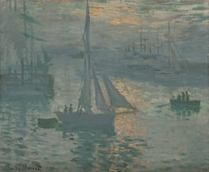 "Claude Monet ""Sonnenaufgang am Hafen"" Digital image courtesy of the Getty's Open Content Program"